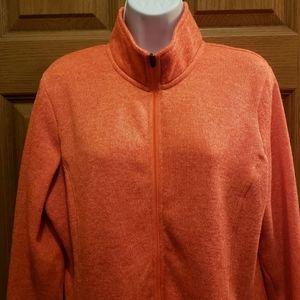 Danskin Now Orbit Orange Full Zip Sweatshirt - XL